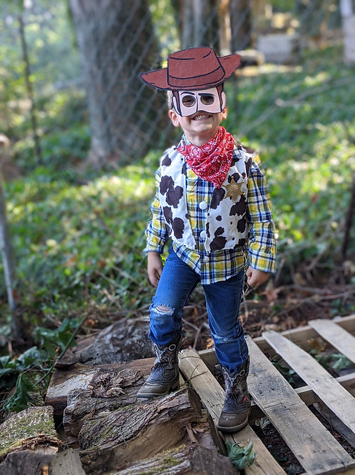 Upcycled Woody Costume
