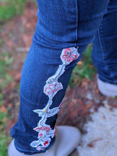 Embellished Denim Kenzie Jeans - Size 29