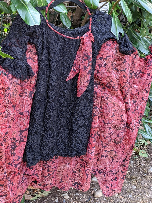 Black Lace Butterfly Dress | Size 6/7