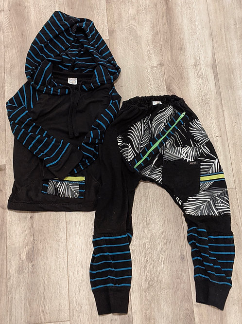 Upcycled 4T Boys Sweatshirt and Joggers
