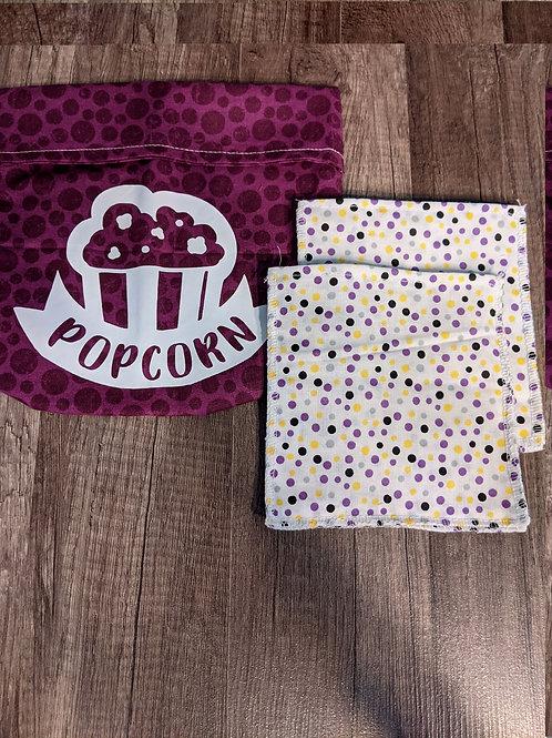 Reusable Popcorn Bag - Set of 3
