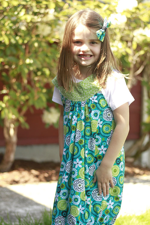 Spring Bubble Dress with Ring Accent