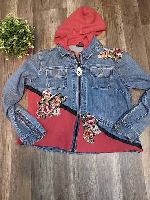 Sliced Upcycled Sweater Jacket