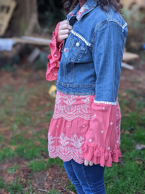 Coral Flare Upcycled Denim - Women's Large