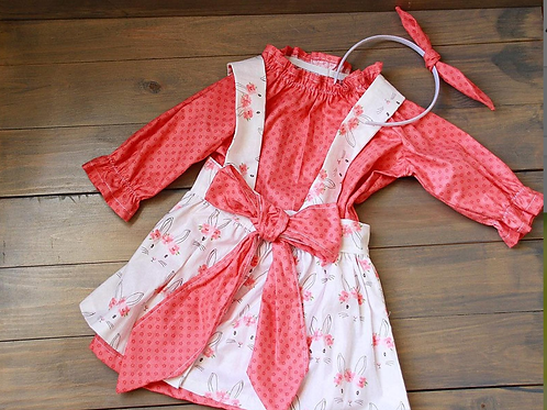 Spring Pinafore and Dress - Size 2/3T