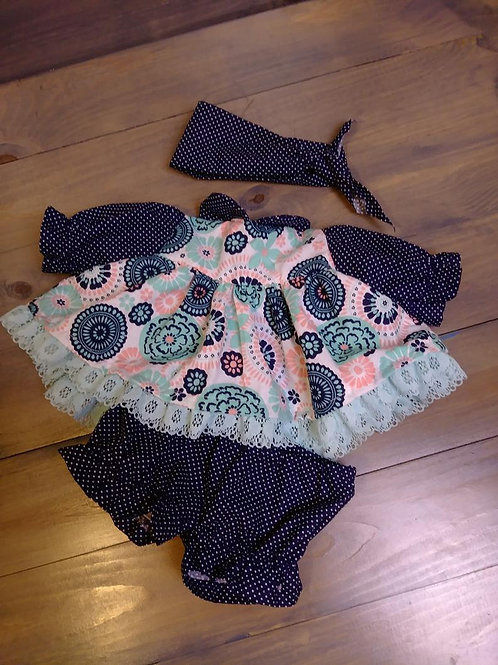 Dress with Bloomers - Newborn/Preemie