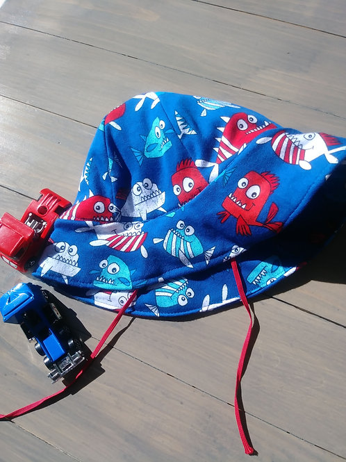 Boys Sun Hat with Strap