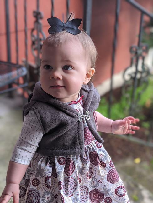 Baby Dress with Fleece Vest