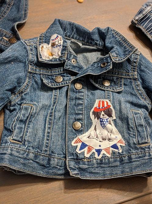 Embellished Denim Jacket - 6Months