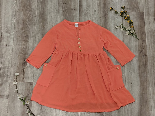 Girls Coral Tunic Dress