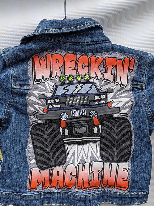 Monster Truck Denim Jacket - Size 3