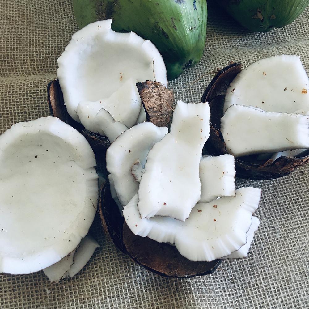 Polpa de coco usada para fazer o leite