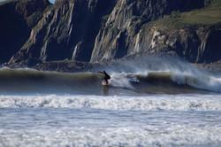 Suring at Bantham Beach Credit: Broady