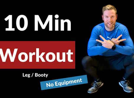 10 min  Beine / Po Training für Zuhause