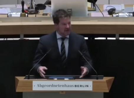 Generaldebatte zum Haushalt 2020/21 im Abgeordnetenhaus.