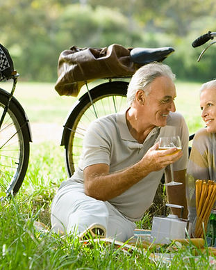 Romantisches Picknick Paar