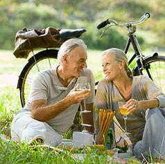 Romantisk picknick Par