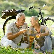 Romantische picknick Paar