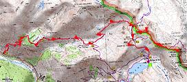 randonnée et ascension de la cime des Blanches. Carte IGN 1/25