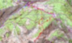 carte IGN 1/25 Mont Aunos