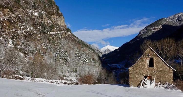 Diaporama musical de la randonnée au refuge de Lopez Huici, en conditions hivernales