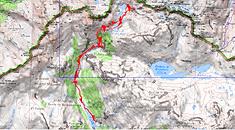 Carte IGN 1/25 lacs d'Arriel et Gourg Glacé