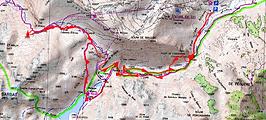 Randonnée au col d'Ilhéou en crampons, depuis le Cambasqe. Refuge et lac d'Ilhéou, puis cabanes d'Arras. Retour par le même itinéraire. Trace GPS téléchargeable, topo, itinéraire, carte IGN, et photos. Superbe randonnée hivernale, ne présentant pas de difficultés si bien équipés.