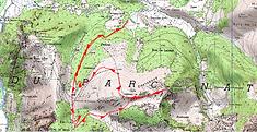 Randonnée raquettes au sommet du Sésérite,départ du Port de Castet,et retour par la crête du Turounet de Lauda