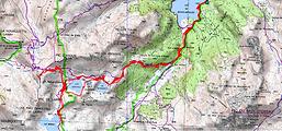 Randonnée raquettes au col d'Ayous, en passant par le refuge d'Ayous et les lacs Roumassot, du Miey, Gentau, et Bersau, depuis le parking du lac de Bious-Artigues. Beau belvédère sur la vallée d'Aspe depuis le col d'Ayous séparant la vallée d'Ossau et la vallée d'Aspe. Trace GPS, carte IGN, topo, itinéraire, et photos.