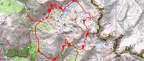 Randonnée et ascension de Claï Supérieur par les lacs d Vens, Fourchas, et de la Montagnette. Retour par les lacs Marie.
