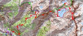 randonnée et ascension du Corborant. Carte IGN 1/25