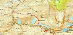randonnée et ascension du Casque du Marboré et de la Tour du Marboré. Carte IGN 1/25