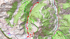Randonnée raquettes au pic du Baralet en vallée d'Aspe. Carte IGN 1/25