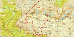 Randonnée et ascension du pic Mondarruego et du pic de Escuzana, depuis le col des Tentes, en passant par la Faja de Escuzana. Bivouac à Plana Catuarta. Topo, itinéraire, trace GPS téléchargeable, carte IGN imprimable et nombreuses photos.