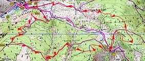 Randonnée raquettes en boucle à la cime d'Anelle, au départ de St Dalmas le Selvage