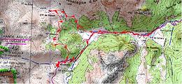 Carte IGN 1/25 cabane d'Ansabère et Pédain