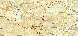 Randonnée et ascension ds pics Royo, Culivillas, Arroyetas en boucleavec un retour par les lacs d'Anayet