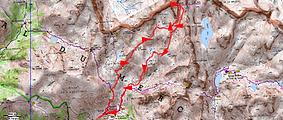 Randonnée et ascension de la Cime du Gels en boucle deuis la Madone de Fenestre, en passnt par les lacs Mort et Blanc. Retour par les lacs Cabret et Balaour