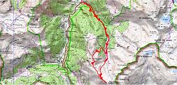 Randonnée et ascension du Pic de Mayou, et du pic d'Arnoussère, depuis le pont d'Arnousse, par la crête du Murlorum. Topo, trace GPS téléchargeable, itinéraire, carte IGN, et photos. Belle randonnée sauvage qui amène à la frontière espagnole.