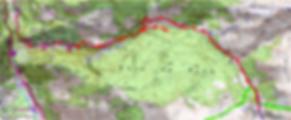 Carte IGN 1/25 la cabane de la Baigt de Saint Cours