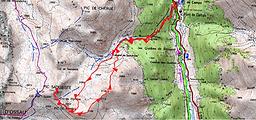 Randonnée semi-hivernale au pic Saoubiste, et au Pic de Pombie depuis Pont de Camps. Retour par les crêtes. Panorama sur la crête Lavigne-Chérue et le pic du Midi d'Ossau. Trace GPS, carte IGN, topo, itinéraire, et photos.
