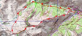 randonnée et ascension de la Tête Ronde en boucle par la crëte de Pra Gazé. Carte IGN 1/25