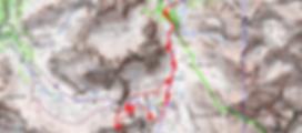 randonnée et ascension du sommet de Gialorgues et tour des lacs. Carte IGN 1/25