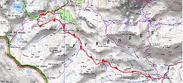 Randonnée hivernale au col d'Anéou, appelé aussi col de Bious, depuis la cabane de Cap de Pount, par les lacs Castérau et Paradis, ainsi que les cabanes de la Hosse, Lous Québottes, la Glère. retour cirque d'Anéou. Trace GPS téléchargeable,itinéraire, topo, carte IGN, et photos.