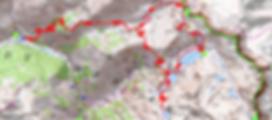 randonnée aux aiguilles de Tortisse et tour des lacs de Vens et des Babarottes. Carte IGN 1/25