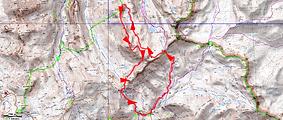 Randonnée et ascension de Tête de Pelouse depuis le col des Fourches. Boucle passant par le Pas de la Cavale, les lacs des Hommes, la Bosse du Lauzanier, et retour par le col de Pelousette.Trace GPS, carte IGN, topo, itinéraire, et photos.