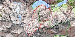 randonnée et ascension du pic de Campbieil par le pic d'Estaragne et retour par la Hourquette de Cap de Long en boucle par le lac de Cap de Long