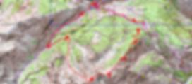 Carte IGN 1/25 Tête de Cloifret