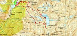 Lac de Brazato ou embalse de Brazato en boucle au départ de Baños de Panticosa