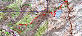 randonnée et ascension du Grand Cimon de Rabuons. Carte IGN 1/25